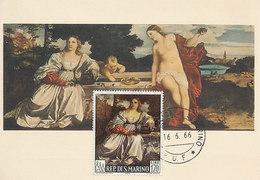 D33492 CARTE MAXIMUM CARD 1966 SAN MARINO - BY TIZIANO - NUDE CP ORIGINAL - Nudes