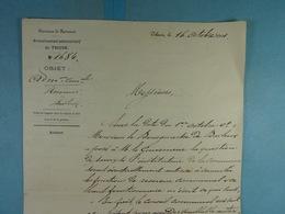 1901 Baileux L'instituteur Peut-il être Aussi Receveur Communal? Réponse De La Province - Manuscrits