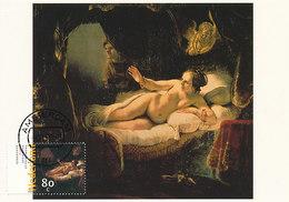 D33497 CARTE MAXIMUM CARD FD 1999 NETHERLANDS - DANAE BY REMBRANDT - NUDE CP ORIGINAL - Nudes
