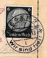 Lettre Eger Wir Sind Frei 1938 Deutschland Františkovy Lázně Franzensbad Československo Sudètes Sudetenland - Allemagne