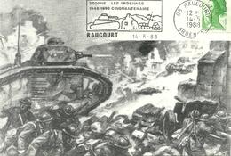 08 Ardennes  STONNE Croix De Guerre 14-18 39-45 RAUCOURT 2 Scans - Autres Communes
