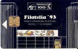 P-026 TARJETA DE ESPAÑA DE FILATELIA'93  DE TIRADA 2000  (SELLO-STAMP) - Espagne