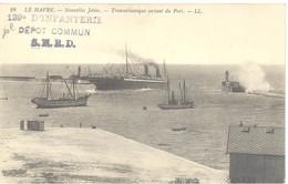 129è D'infanterie - Dépôt Commun S.N.R.D. - Le Havre - Nouvelles Jetées - Transatlantique Sortant Du Port - Storia Postale