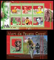 GUINEA 2010 - F. Coppi - YT 5110-5 + BF1140; CV=30 € - Ciclismo
