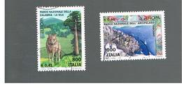 ITALIA REPUBBLICA  -  1999  EUROPA 2 VALORI   - USATO ° - 6. 1946-.. Repubblica