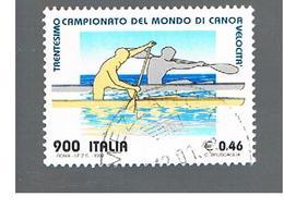 ITALIA REPUBBLICA  -  1999  MONDIALI DI CANOA - USATO ° - 6. 1946-.. Repubblica