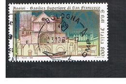 ITALIA REPUBBLICA  -  1999   BASILICA DI ASSISI        - USATO ° - 6. 1946-.. Repubblica