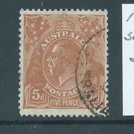 Australia 1930 5d Orange Brown KGV Head SMW Perf 13.5 X 12.5 Used - Used Stamps