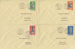 1799 -  Pro Patria Denkmäler Seltene Einzel-FDC's Gestempelt MUMPF 20.III.40 - Pro Patria