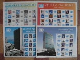NEW YORK ONU / UN - LOT De 4 BLOCS-FEUILLETS PERSONALISÉS NEUF (VOIR SEE SCANS) / Personalized Sheet - Blocks & Sheetlets