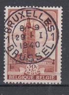 N° 520 OBLITERATION CENTRALE ET DROITE DE BRUXELLES - Usati