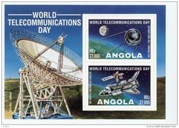 Angola 1995-Journée Mondiale Des Communiquation-satellites-B18***MNH***MNH - Angola