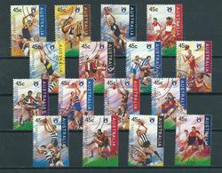 1996 Australia Complete Set Rugby Legends Used/gebruikt/oblitere - 1990-99 Elizabeth II
