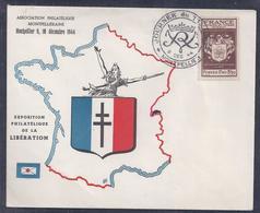 Enveloppe Locale Journee Du Timbre 1944 Montpellier - Lettres & Documents