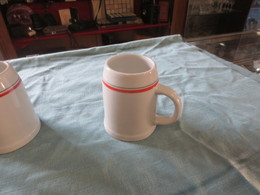 Chope à Biere Porcelaine D'auteuil - Cups