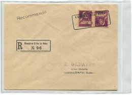 1801 - GENÈVE ASSEMBL. 15.XI.20 Aushilfstempel Auf Einschreiben Mit Kehrdruck K 9 + Attest Rellstab - Kehrdrucke