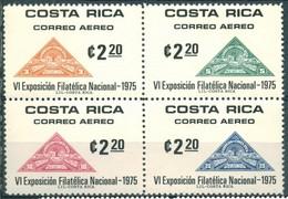 Costa Rica - 1975 - Yt PA 623/626 - Expo. Philatélique Nationale - ** - Costa Rica