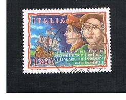 ITALIA REPUBBLICA  - 1998  COLOMBO E VESPUCCI        - USATO ° - 6. 1946-.. Repubblica