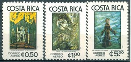 Costa Rica - 1977 - Yt PA 686/688 - Tableaux Religieux - ** - Costa Rica