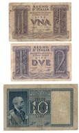 Italy 1 - 2 - 10 Lire 1935-1944 Dittatura - Italy