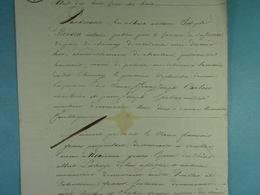 1818 Vente De La Famille Graux De Virelles à Alexis Nicolas Hardy De Vaulx - Manuscrits