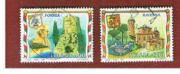 ITALIA REPUBBLICA  - UNIF. 2314.2317  -   1997   TURISTICA: FORMIA, RAVENNA  - USATO ° - 1991-00: Usati