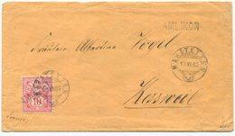 1803 - AMLIKON Stabstempel Auf 10 Rp. Wertziffer (weisses Papier) Mit Datumstempel MÄRSTETTEN 13 VI 82 - 1882-1906 Wappen, Stehende Helvetia & UPU