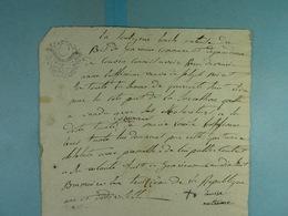 1794 Quittance De Louise Metens Du Bois De Gonrieux à M-A Laffineur Vve Noiret - Manuscrits
