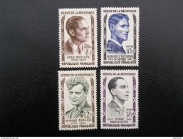 1100-1101-1102-1103  Héros De La Résistance  1957  NEUF**  TBE - Ungebraucht