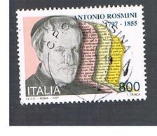 ITALIA REPUBBLICA  - 1997   A. ROSMINI  - USATO ° - 6. 1946-.. Repubblica