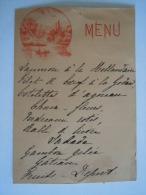 Belgique Belgie Menu Circa 1900 Dos Baron De Rosen D'Anthée Noblesse Format  8,5 X 12 Cm - Menus