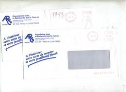 Lettre Machine Paris Entete Recherche Cancer - Storia Postale