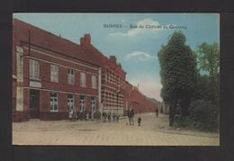 CPA . Dépt.62. BUSNES . Rue Du Château De Quesnoy . Petite Animation . - France