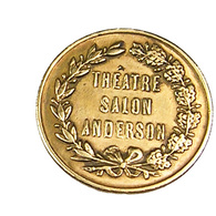 Paris -  Théâtre Salonj Anderson -  Laiton - TB+ - - Monetari / Di Necessità