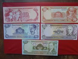 NICARAGUA SERIE DE 5 BILLETS NEUFS - Coins & Banknotes