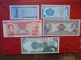 VENEZUELA SERIE DE 5 BILLETS NEUFS - Coins & Banknotes