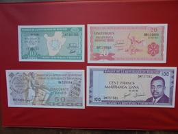 BURUNDI SERIE DE 4 BILLETS NEUFS - Coins & Banknotes