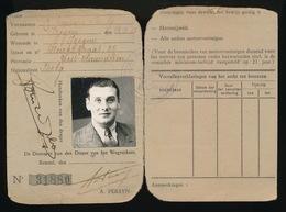 IZEGEM - RIJBEWIJS KONINGRIJK BELGIE - DIENST VAN HET RIJBEWIJS 1940 ??? - 2 AFBEELDINGEN - Documents Historiques