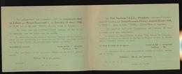 IZEGEM 1946 - UITNODIGING IZEGEMSCHE ROEI EN ZEILCLUB PRIVAAT DANSAVOND IN ZAAL PATRIA - 2 AFBEELDINGEN - Faire-part