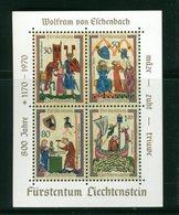 LIECHTENSTEIN - FOGLIO INTERO COMPLETO - NON PIEGATO - MNH LUSSO - 1970 - SUONATORI MEDIOEVALI - Medieval Singers S/s - Blocs & Feuillets