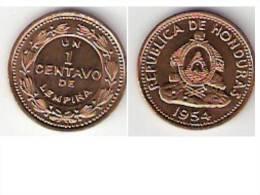 Honduras 1 Centavo 1954 Km  77.2  Unc!!!!!!! - Honduras