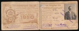 IZEGEM 1910  LIGUE VELOCIPEDIQUE BELGE - RECU DE Mr. Arsene Wybo - Iseghemsche Sportclub = Tijd Is Munt - 2 Afbeeldingen - Motos