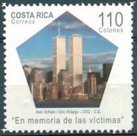 Costa Rica - 2002 - Yt 713 - En Mémoire Des Victimes Du 11 Septembre - ** - Costa Rica