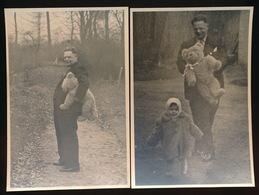 IZEGEM - 2 FOTO 10 X 7 CM -  WYBOMET KLEINKIND IN PARK ,, KASTEEL TER WALLEN ,, - Izegem