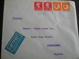 Air Mail  -Kobenhaven 1.6.35 To G.B. - 1913-47 (Christian X)