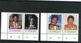 - ST. VINCENT  . TIMBRES M. JACKSON . 2 PAIRES NEUVES SANS CHARNIERE . - St.Vincent (1979-...)