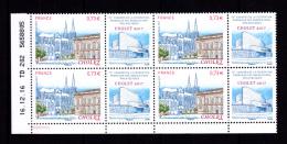 Coin Daté France 2017, Bloc 0.73 € X 4 CD 16.12.16 TD 202 /  2 Traits / Cholet, Congrès Fédération Des Associations - Dated Corners