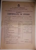 """Certificato Di Studio - Scuola Elementare """"Adelaide Cairoli"""" Roma - 1935 - Classe III - Diplomi E Pagelle"""