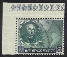 1952 San Marino Saint Marin CRISTOFORO COLOMBO 200L MNH** - Christopher Columbus