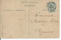Fantasiekaart Met OCB 53 - Afstempeling AGIMONT - COBA 8 - 1893-1907 Wapenschild